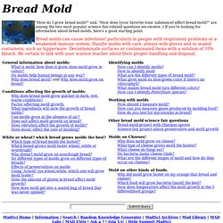 FAQ: Bread molds and other moldy foodstuffs