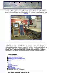 MadVac CNC - home made 4'x8' cnc precision gantry router
