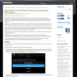 Plus de mise à jour de Maemo ? Pas grave, les Community SSU sont là. - nokia-n900.fr