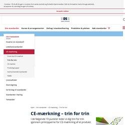 CE-mærkning - trin for trin - Dansk Standard