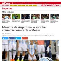 Maestra de Argentina le escribe conmovedora carta a Messi