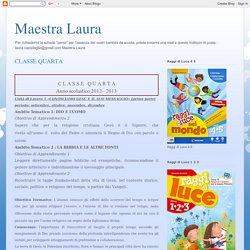 Maestra Laura: CLASSE QUARTA