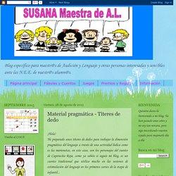 SUSANA Maestra de A.L.: Material pragmática - Títeres de dedo