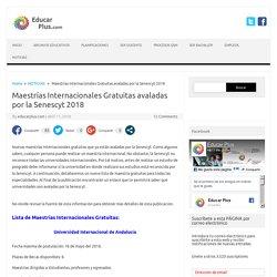 Maestrías Internacionales Gratuitas avaladas por la Senescyt 2018