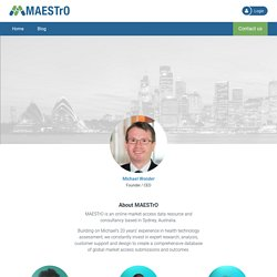 MAESTrO: About MAESTrO