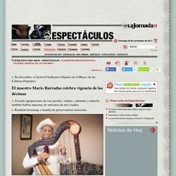 El maestro Mario Barradas celebra vigencia de las décimas