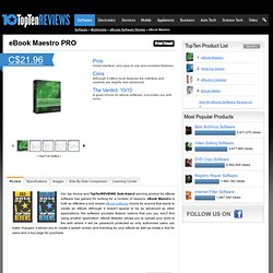 eBook Maestro 2013 - TopTenREVIEWS