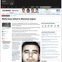 Mafia boss killed in Montreal region - Montreal
