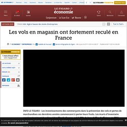 Les vols en magasin ont fortement reculé en France