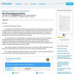 Sic D'un Magasin Darty - Note de Recherches - TimTim95
