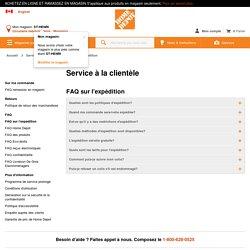 Magasiner Service à la clientèle à HomeDepot.ca