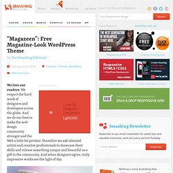 """Magazeen"": Free Magazine-Look WordPress Theme 