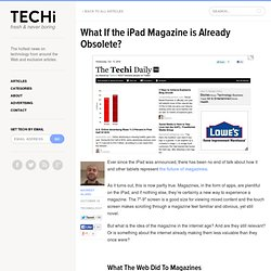 What If the iPad Magazine is Already Obsolete?
