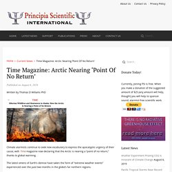 Time Magazine: Arctic Nearing 'Point Of No Return'