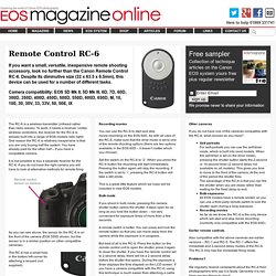 EOS magazine article: Canon Remote Control RC-6