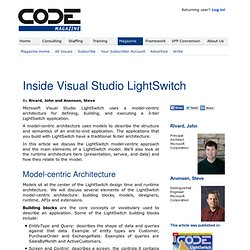 Inside Visual Studio LightSwitch