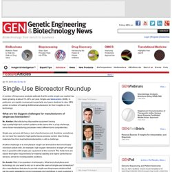Single-Use Bioreactor Roundup