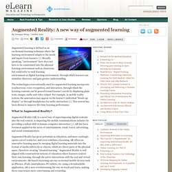 elearn Magazine: Augmented Reality: A new way of augmented learning