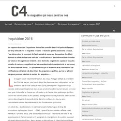 Magazine C4 – Inquisition 2016