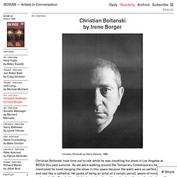 Christian Boltanski by Irene Borger