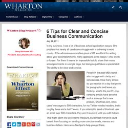 6 Tips for Clear and Concise Communication