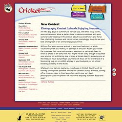Cricket Magazine - www.CricketMagKids.com - New Contest