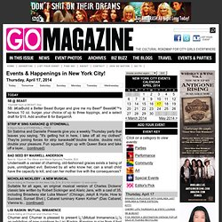 GO Magazine - the cultural roadmap for the city girl
