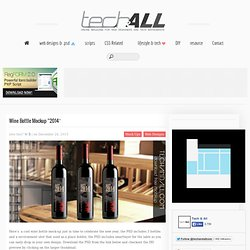 "Wine Bottle Mockup ""2014″"