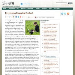 elearn Magazine: Developing Engaging Content