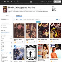 The Pulp Magazine Archive : Free Texts : Free Download, Borrow and Streaming