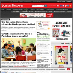 Sciences Humaines - Education