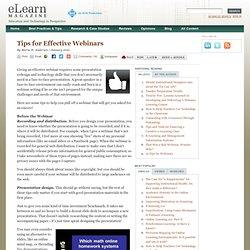 Tips for Effective Webinars