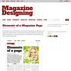 Magazine page elements