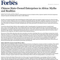 Chinese State-Owned Enterprises in Africa: Myths and Realities
