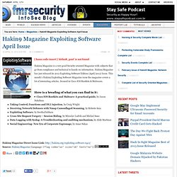 Hakin9 Magazine Exploiting Software April Issue |