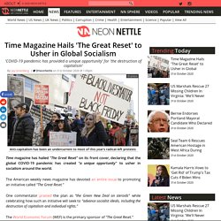 Time Magazine Hails 'The Great Reset' to Usher in Global Socialism