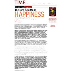 TIME Magazine: Happiness The New Science of Happiness