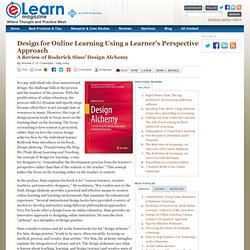 Design for Online Learning Using a Learner's Perspective Approach