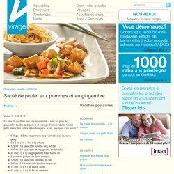 Virage – Le magazine en ligneSauté de poulet aux pommes et au gingembre - Virage - Le magazine en ligne