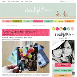 Mini Magazine Notebook DIY