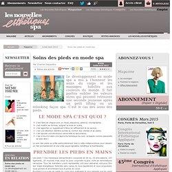 Soins des pieds en mode spa - Article de Juillet-Août 2012