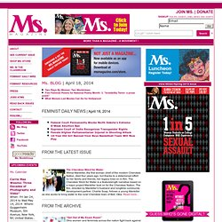 Ms. Magazine Online | More Than A Magazine - A Movement