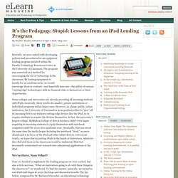 It's the Pedagogy, Stupid: Lessons from an iPad Lending Program