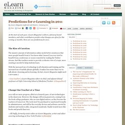 Predictions for e-Learning in 2011