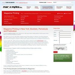Professional Magazine Printing Companies In New York