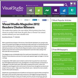 Visual Studio Magazine 2012 Readers Choice Winners
