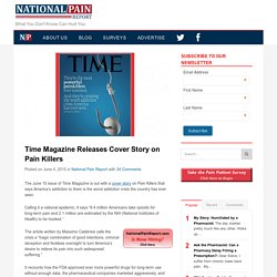 Time Magazine Releases Cover Story on Pain Killers