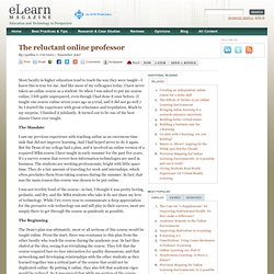 The reluctant online professor