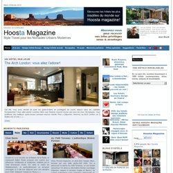 Hoosta Travel Magazine Hotels Luxe Style Design Restaurants Voyages