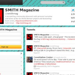 SMITH Magazine (smithmag) on Twitter